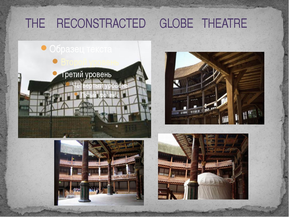 THE RECONSTRACTED GLOBE THEATRE