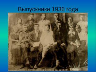 Выпускники 1936 года