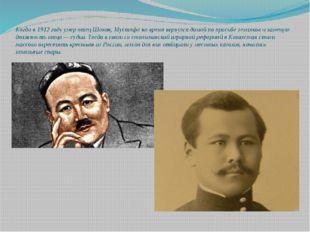 Когда в 1912 году умер отец Шокая, Мустафа на время вернулся домой по просьбе