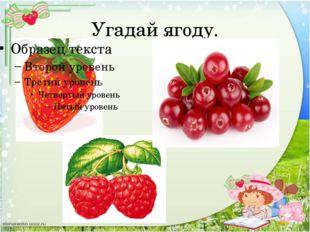 Угадай ягоду.