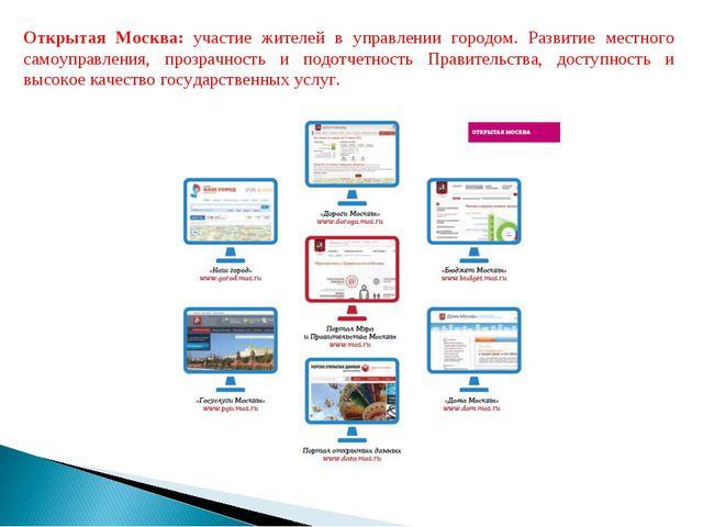 Открытая Москва: участие жителей в управлении городом. Развитие местного само...