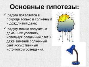 радуга появляется в природе только в солнечный и дождливый день; радугу можн