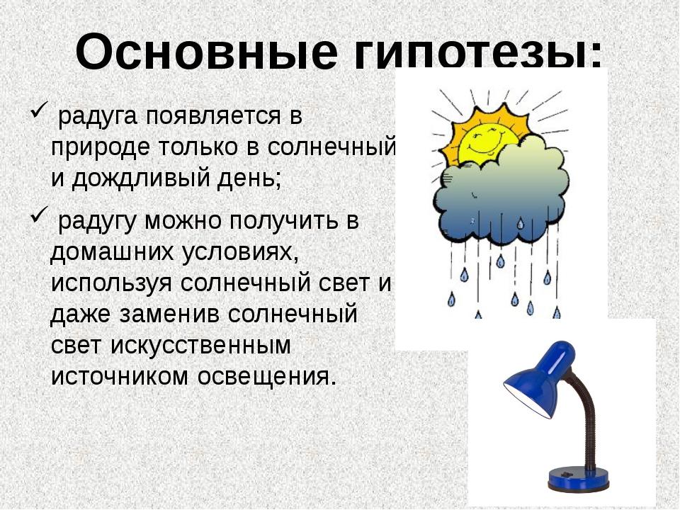 радуга появляется в природе только в солнечный и дождливый день; радугу можн...