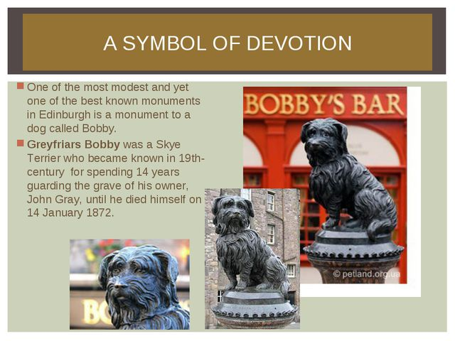 A SYMBOL OF DEVOTION One of the most modest and yet one of the best known mon...