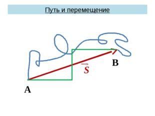 Путь и перемещение А В S