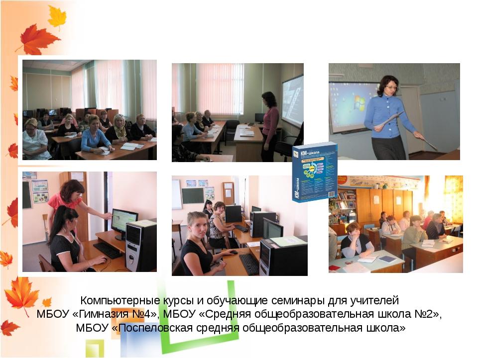 Распространение опыта работы Компьютерные курсы и обучающие семинары для учит...