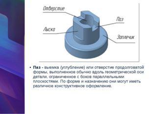 Паз -выемка (углубление) или отверстие продолговатой формы, выполненное обыч