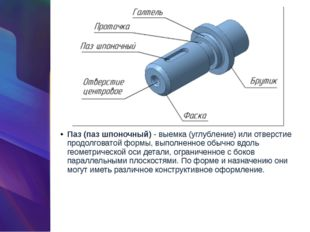 Паз (паз шпоночный)- выемка (углубление) или отверстие продолговатой формы,