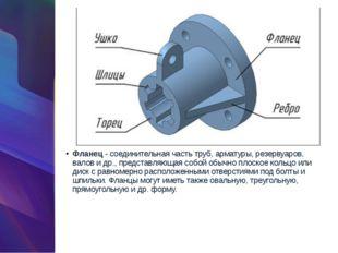 Фланец- соединительная часть труб, арматуры, резервуаров, валов и др., предс