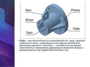 Ребро- пластинчатый выступ на внутренней или, чаще, наружной поверхности лит