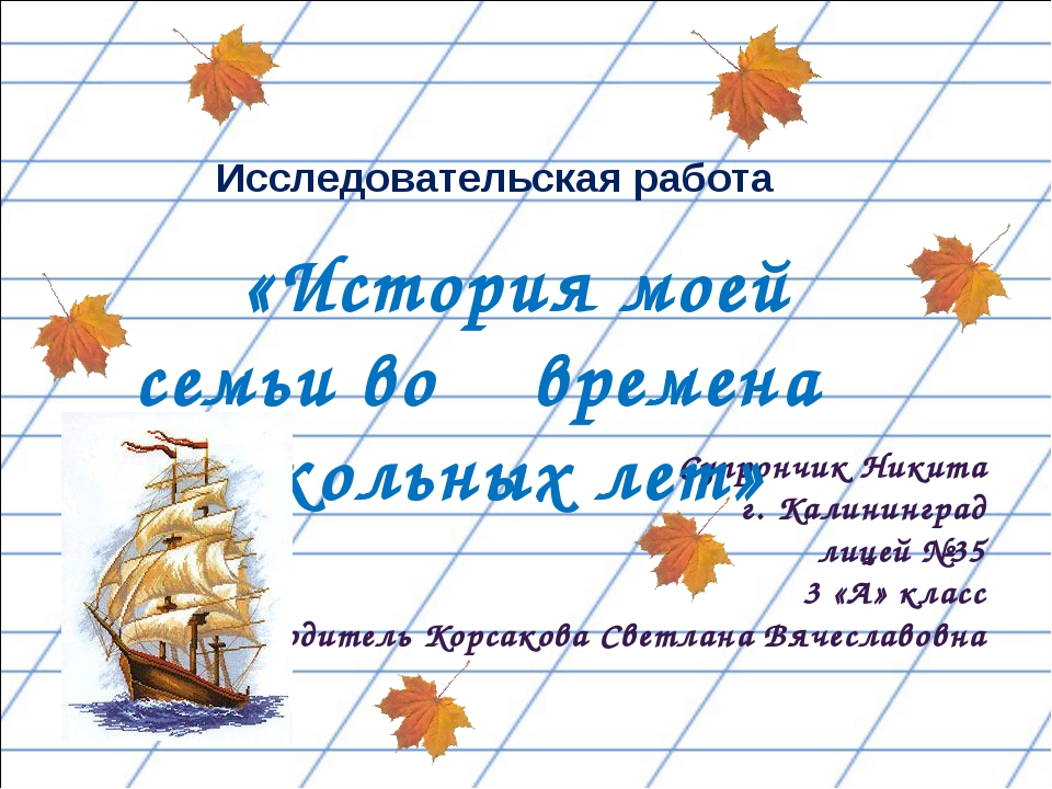 Супрончик Никита г. Калининград лицей №35 3 «А» класс Руководитель Корсакова...