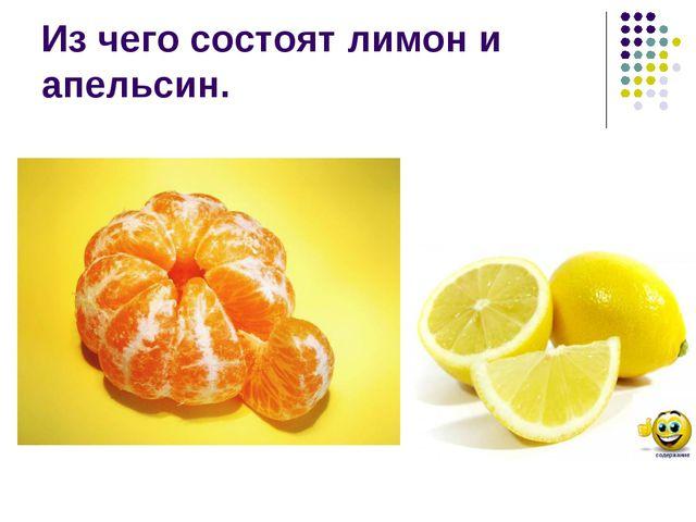 Из чего состоят лимон и апельсин.