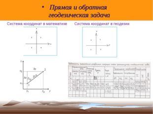 Прямая и обратная геодезическая задача Система координат в математике Система