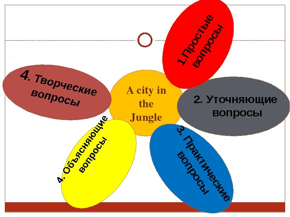 A city in the Jungle 2. Уточняющие вопросы 4. Объясняющие вопросы 3. Практиче...