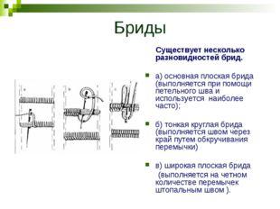 Бриды Существует несколько разновидностей брид. а) основная плоская брида (вы