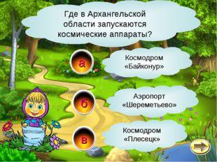в а б Где в Архангельской области запускаются космические аппараты? Космодром