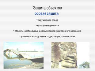 Защита объектов ОСОБАЯ ЗАЩИТА: окружающая среда культурные ценности объекты,