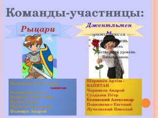 Команды-участницы: Мельников Александр - капитан Былицкий Павел Денисюк Алек