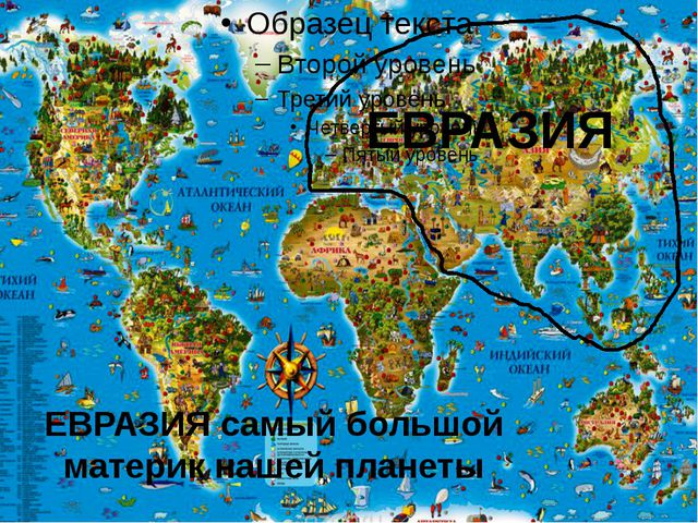 ЕВРАЗИЯ ЕВРАЗИЯ самый большой материк нашей планеты