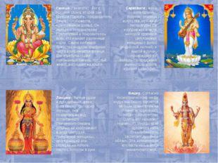 Ганеша (Ганапати) - бог с головой слона, второй сын Шивы и Парвати, предводи