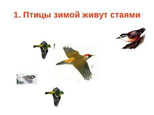 1. Птицы зимой живут стаями