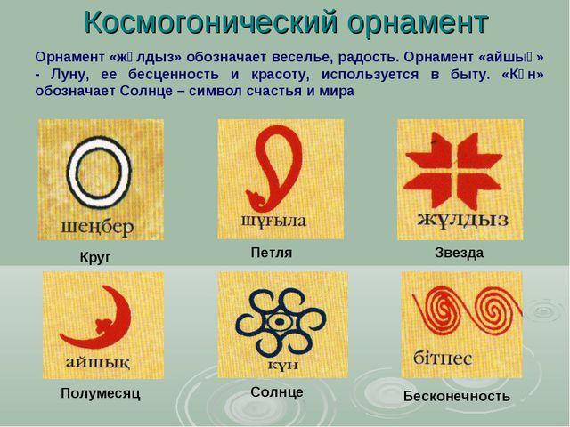 Космогонический орнамент Круг Петля Звезда Полумесяц Солнце Бесконечность Орн...