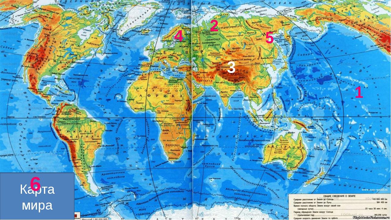 1 2 3 4 5 Карта мира 6