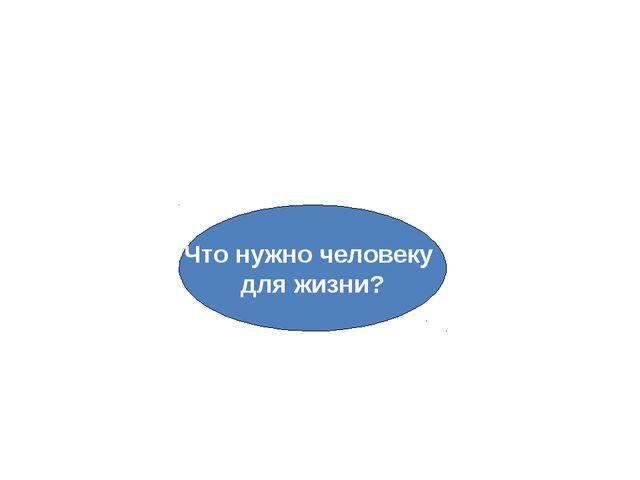Потребности Что нужно человеку для жизни?