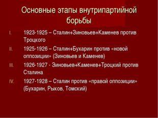 Основные этапы внутрипартийной борьбы 1923-1925 – Сталин+Зиновьев+Каменев про