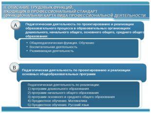 А В Педагогическая деятельность по реализации: 1) программ дошкольного образо