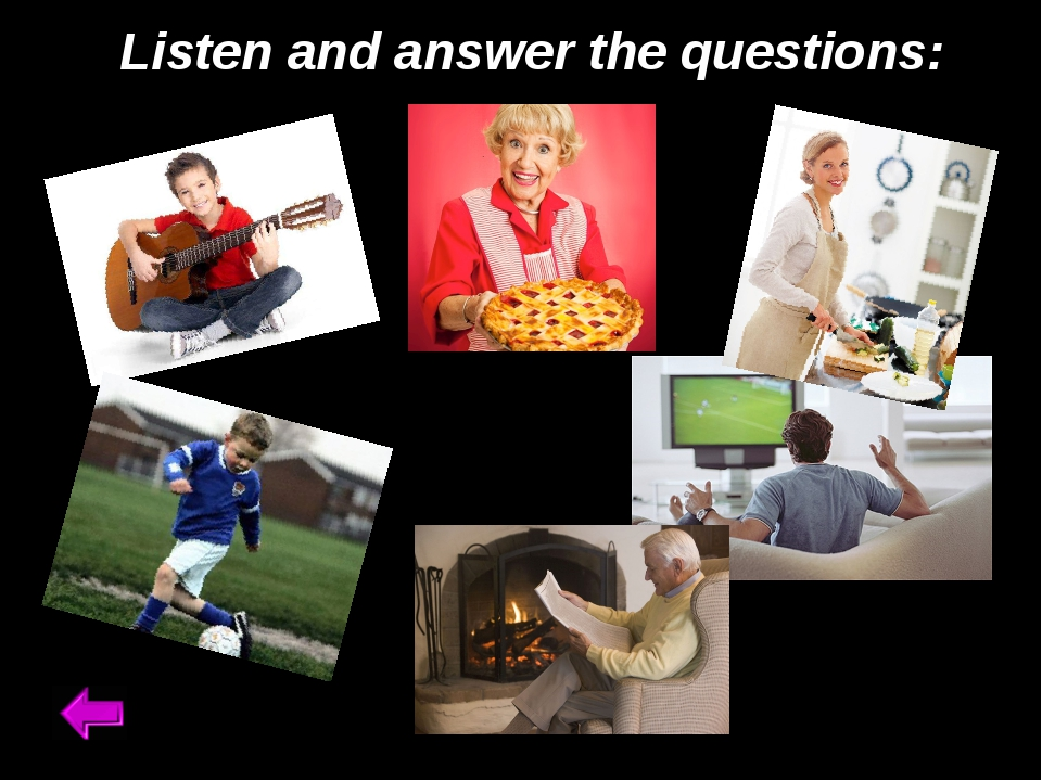 Listen and answer the questions: