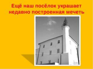 Ещё наш посёлок украшает недавно построенная мечеть