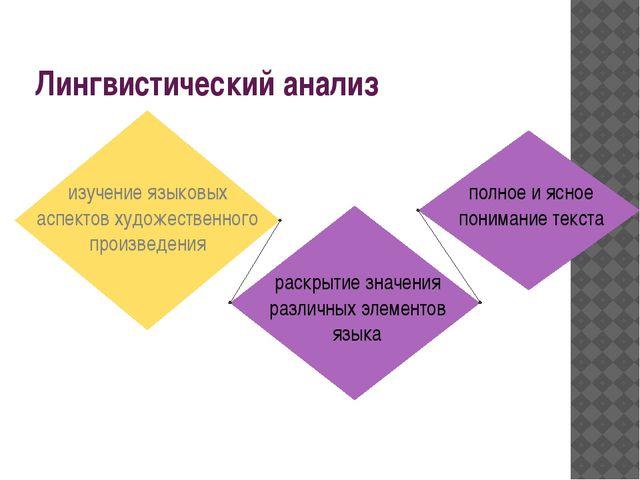 Лингвистический анализ изучение языковых аспектов художественного произведени...