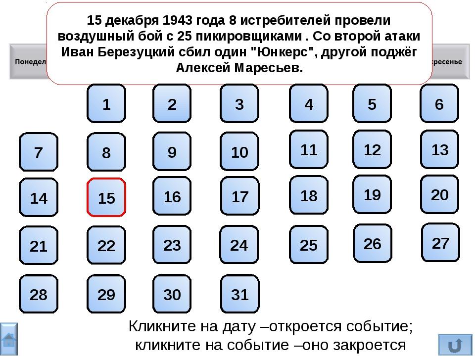 Декабрь 15 декабря 1943 года 8 истребителей провели воздушный бой с 25 пикиро...