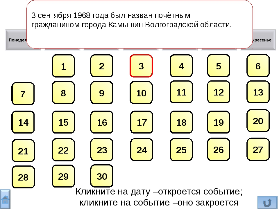 3 сентября1968 годабыл названпочётным гражданиномгородаКамышинВолгоград...