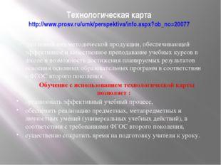 Технологическая карта http://www.prosv.ru/umk/perspektiva/info.aspx?ob_no=200