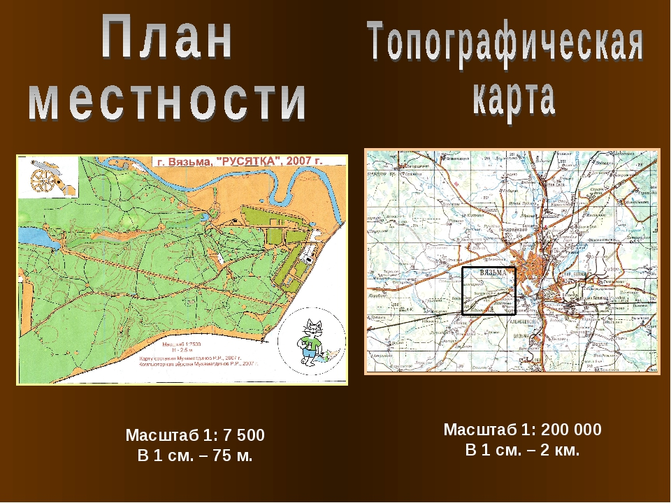 Масштаб 1: 200 000 В 1 см. – 2 км. Масштаб 1: 7 500 В 1 см. – 75 м.