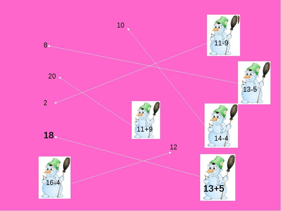 10 13+5 18 11-9 2 13-5 8 11+9 20 16-4 12 14-4 11-9