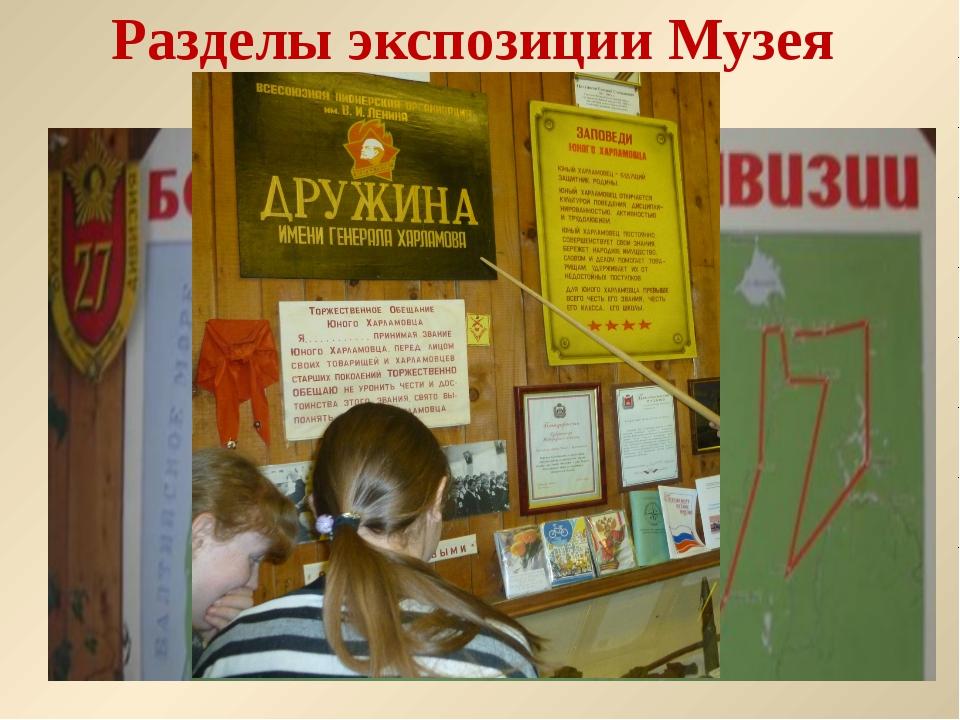 Разделы экспозиции Музея