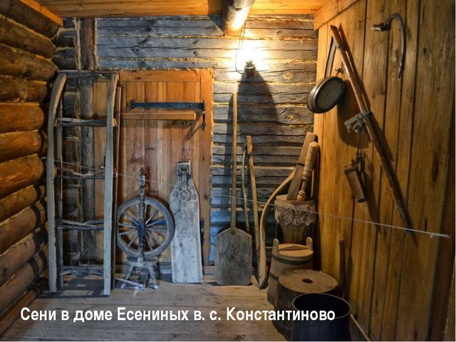 Сени в доме Есениных в. с. Константиново