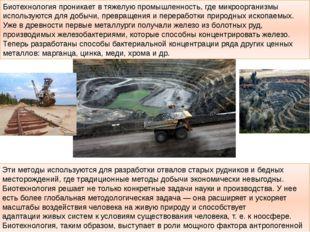 Эти методы используются для разработки отвалов старых рудников и бедных место