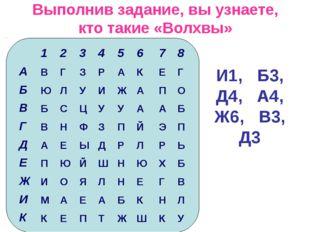 Выполнив задание, вы узнаете, кто такие «Волхвы» И1, Б3, Д4, А4, Ж6, В3, Д3