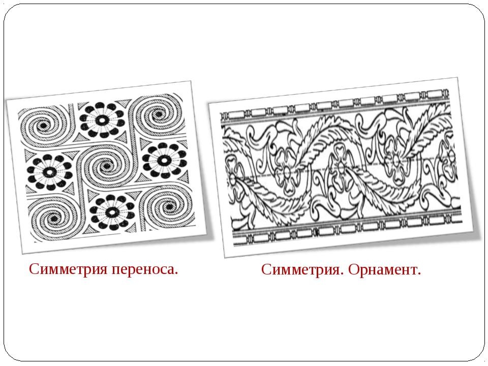 Симметрия переноса. Симметрия. Орнамент.