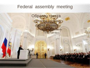 Federal assembly meeting