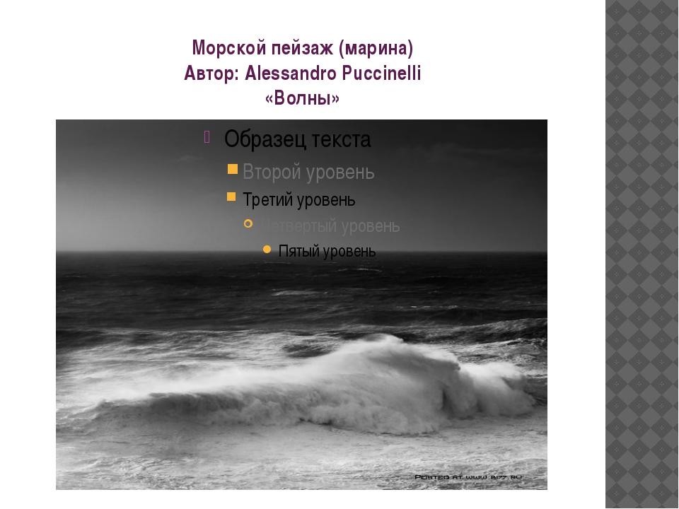 Морской пейзаж (марина) Автор: Alessandro Puccinelli «Волны»