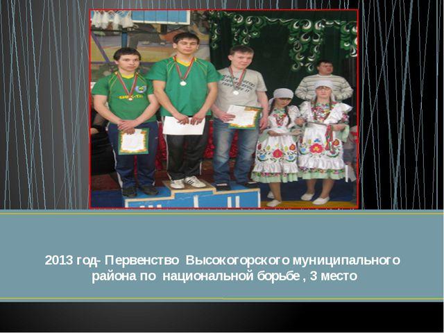 2013 год- Первенство Высокогорского муниципального района по национальной бор...