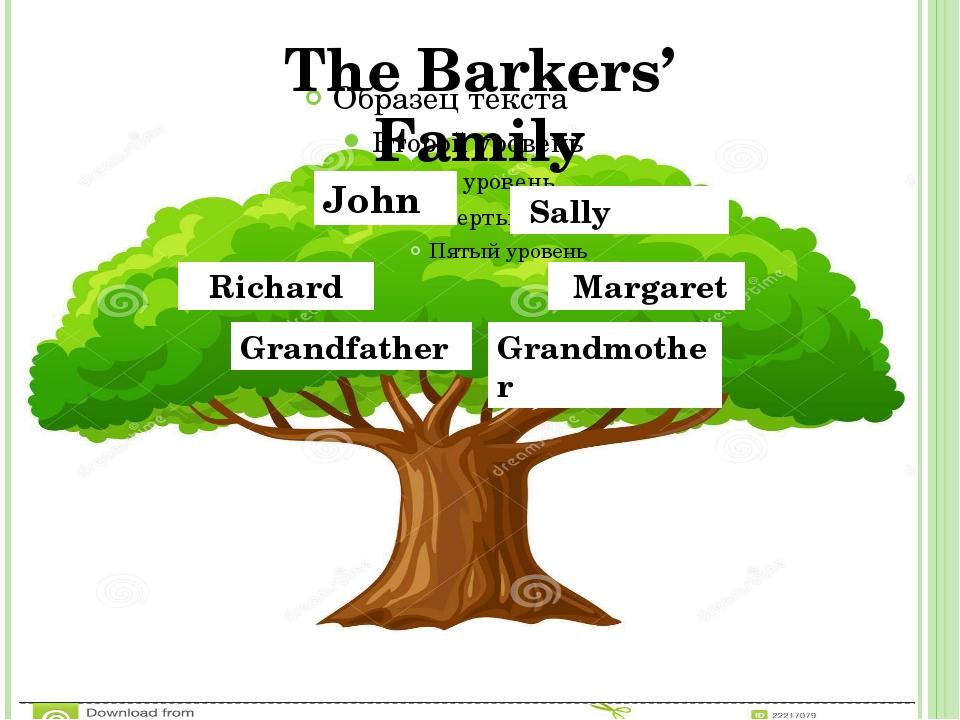 John Sally Richard Margaret Grandfather Grandmother The Barkers' Family