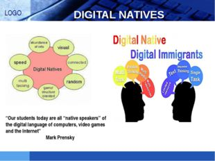 "DIGITAL NATIVES ""Our students today are all ""native speakers"" of the digital"