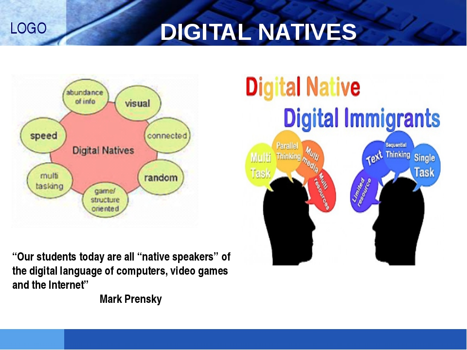 "DIGITAL NATIVES ""Our students today are all ""native speakers"" of the digital..."