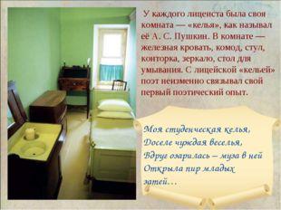 У каждого лицеиста была своя комната— «келья», как называл её А.С.Пушкин.